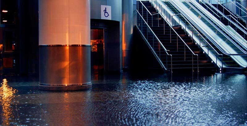 commercial building flooding